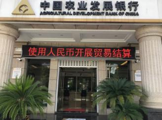 农发行紫云县支行开展跨境人民币业务宣传活动