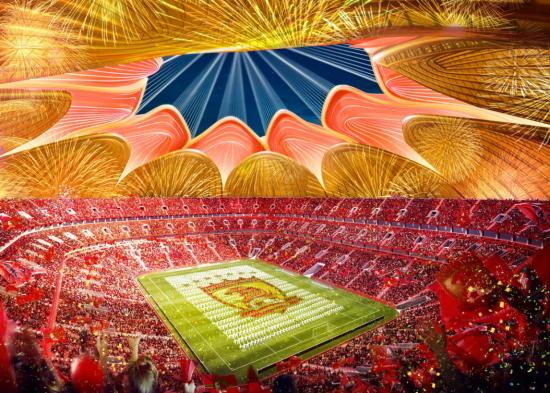 廣州又迎新地標!恒大新足球場荷花造型太驚艷