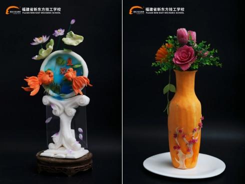 福建新东方:技能展示丨感受雕刻刀下千姿百态的灵魂