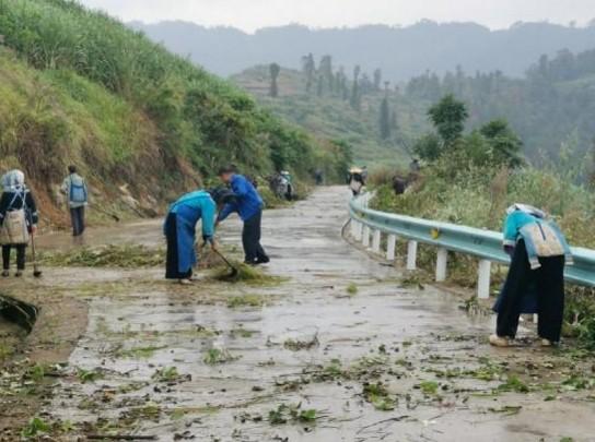 贞丰县鲁贡镇打嫩村开展人居环境整治志愿服务