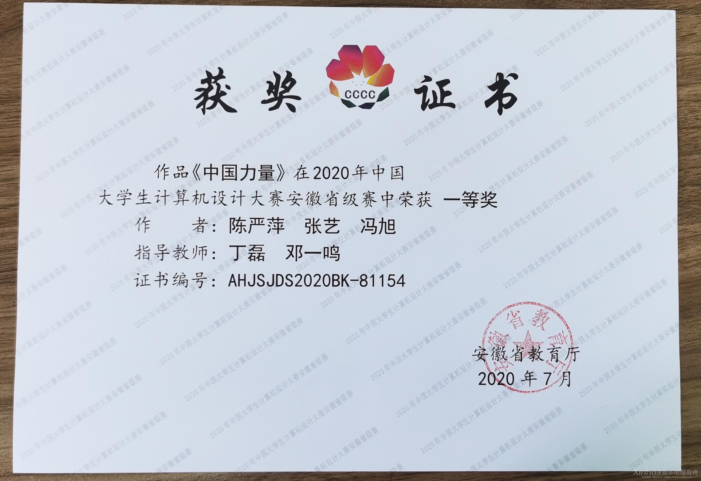 优秀!新华学子在中国大学生计算机设计大赛中再获佳绩!