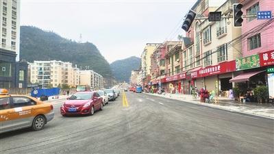 黔南州长顺县建设路改扩建提前15天通车