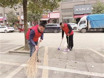 关岭:新春大扫除 文明在行动